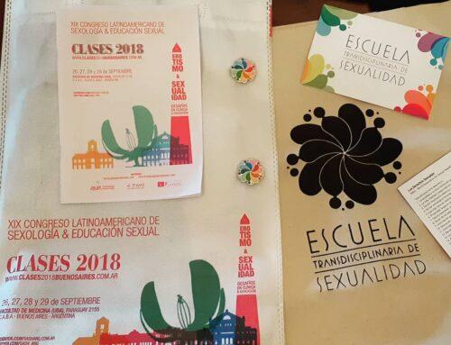 ETSex en el XIX Congreso Latinoamericano de Sexología y Educación Sexual (CLASES) 2018 en Buenos Aires, Argentina