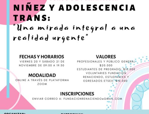 5° Curso «Niñez y adolescencia Trans: Mirada integral a una realidad urgente» – Noviembre 2020